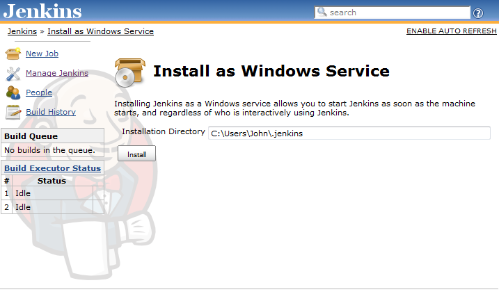 3 12  Installing Jenkins as a Windows Service